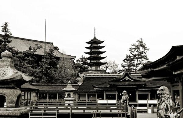 hiroshima japan miyajima itsukushima shrine