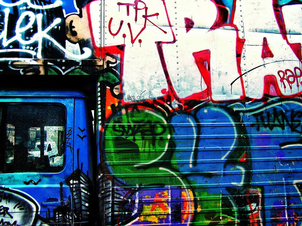 paris france truck graffiti bastille-market