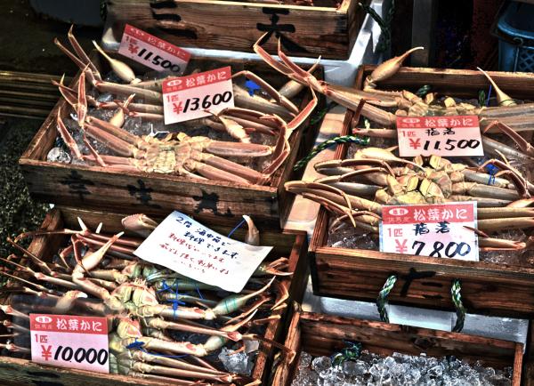 japan hyogo kinosaki onsen crab