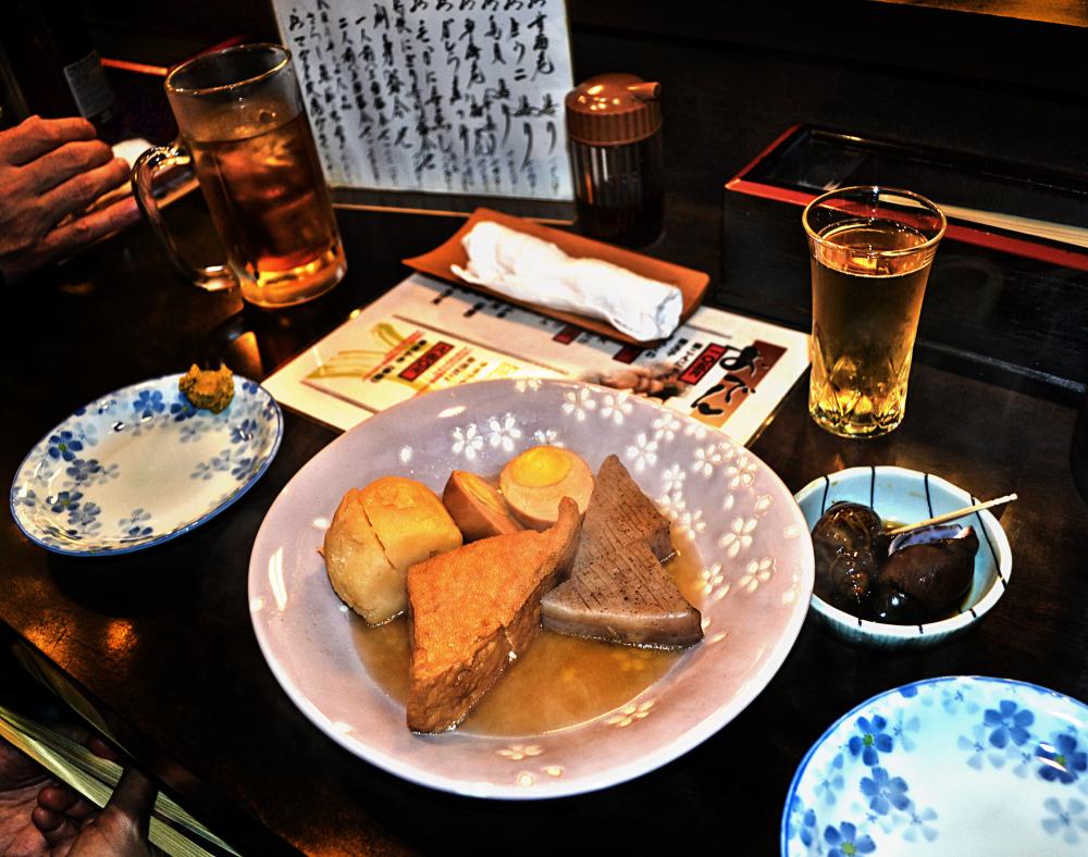 japan osaka umeda izakaya beer oden