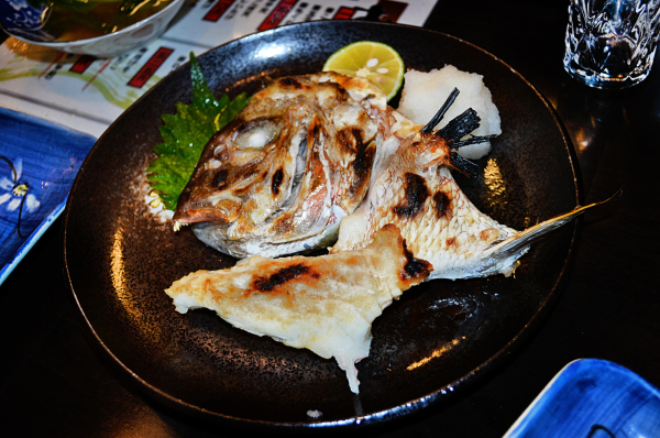japan osaka umeda izakaya fish tai sea-bream