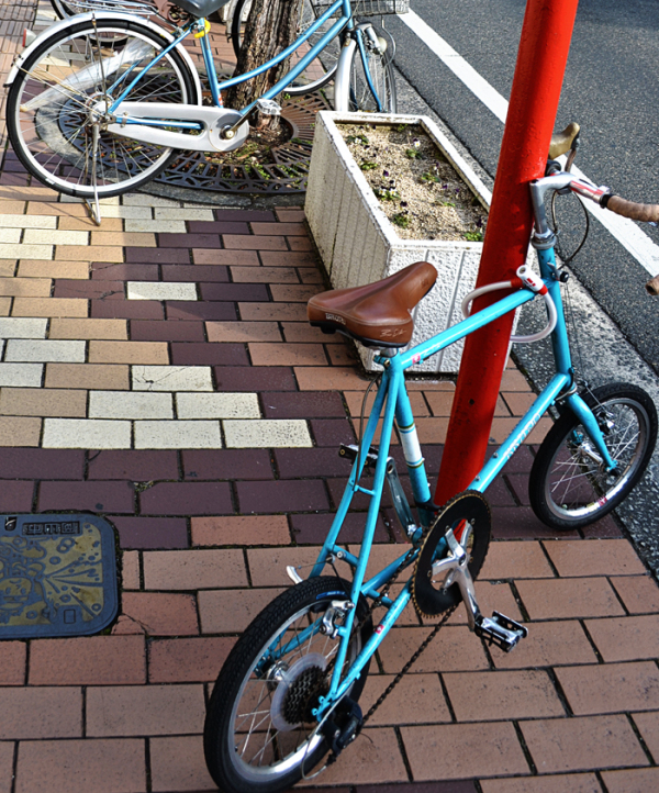 okayama city japan bicycle street