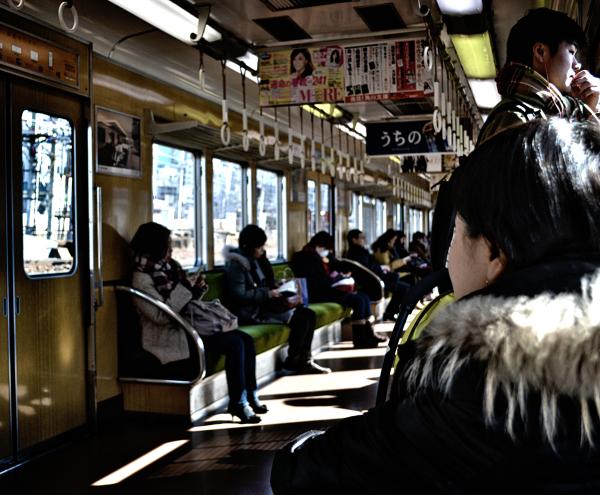 japan osaka hankyu train passenger