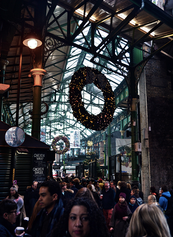 london england borough-market christmas wreath
