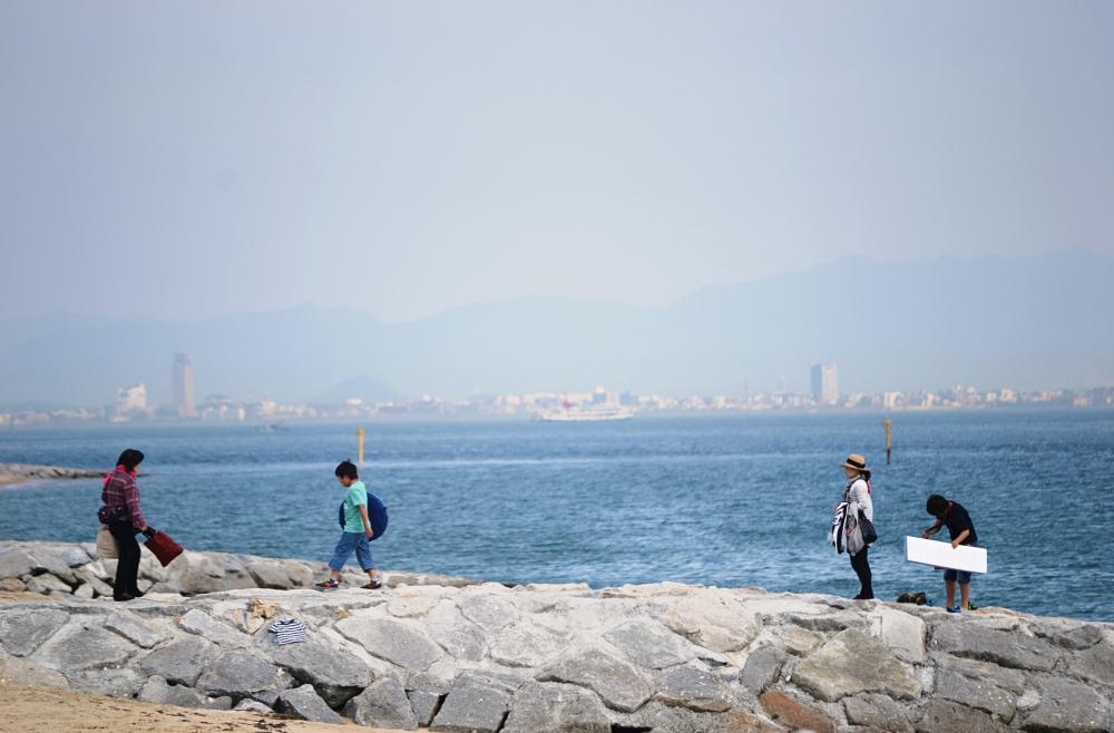 tamaño okayama japan beach sea seto-naikai