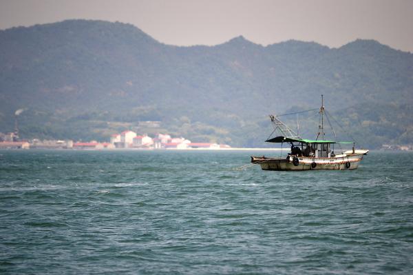 okayama japan seto-naikai island sea boat fishing