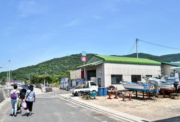 japan kagawa teshima harbour