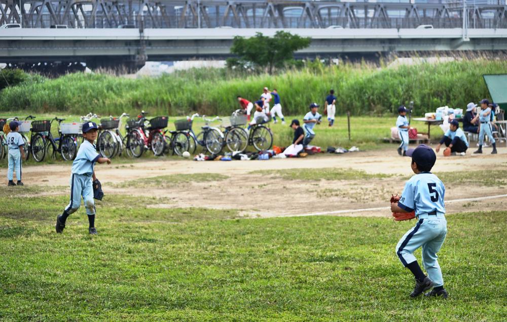 osaka umeda japan yodogawa baseball children