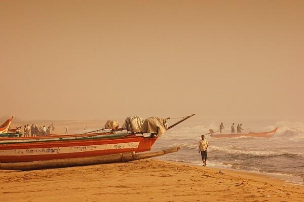Fishermen and the morning hues