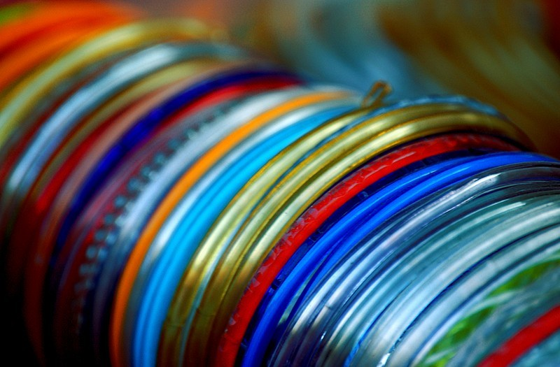 Bangles at the bazaar (Theme - Colours of India)