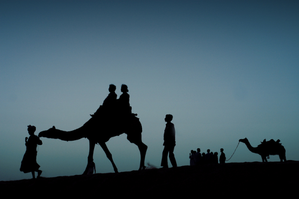 Twilight blues of the Great Indian Desert
