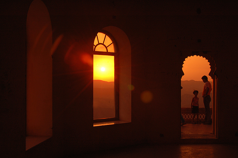 Flare of the Udaipur Sunset
