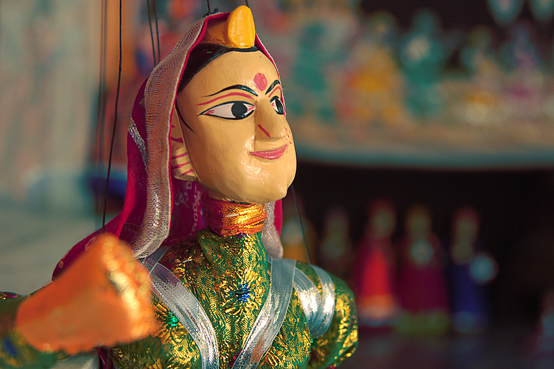 Heroine of the Puppet shows of Udaipur