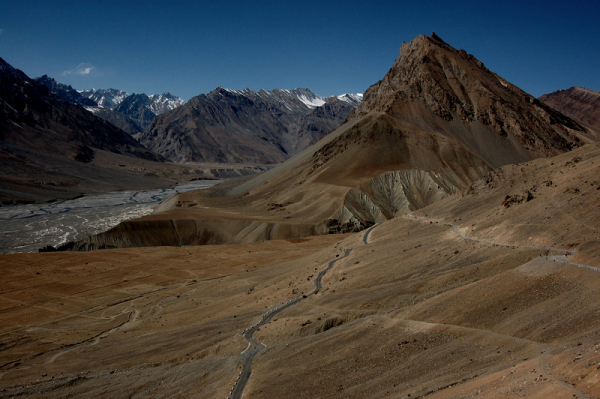 Spiti's quintessential roadscape!