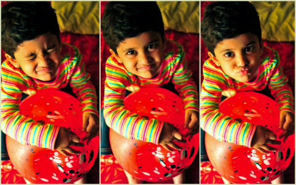 Her little moments with the red Balloon