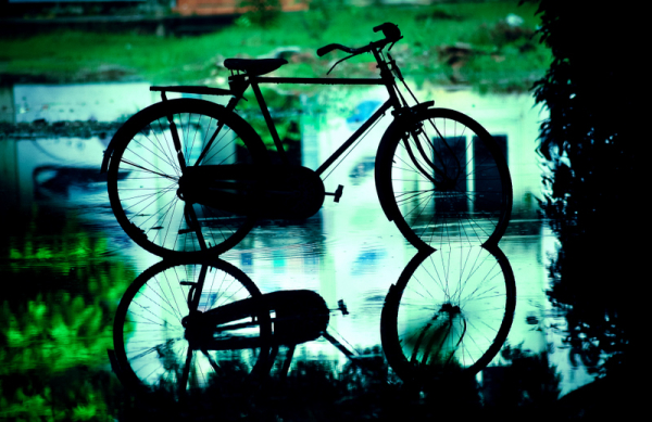 Cycling through the rainy Chennai