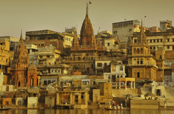 The other side of Manikarnika Ghat