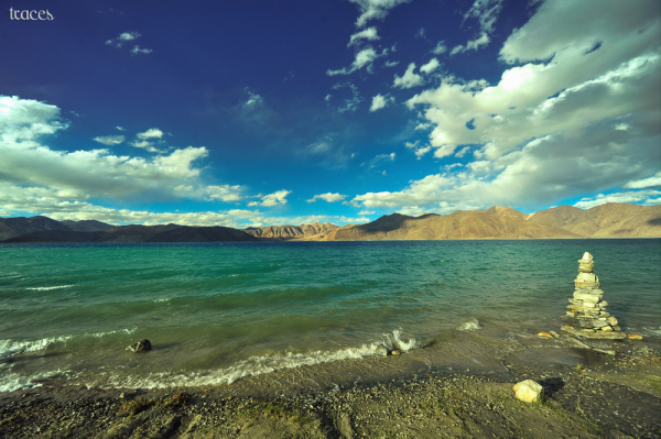 Along the banks of the Tso, Pangong