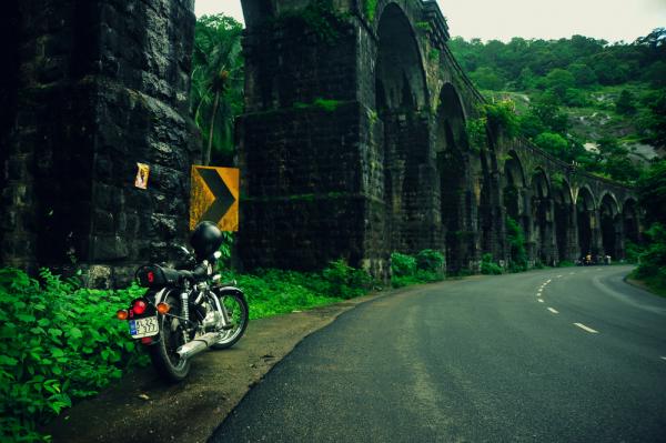 The biker's break
