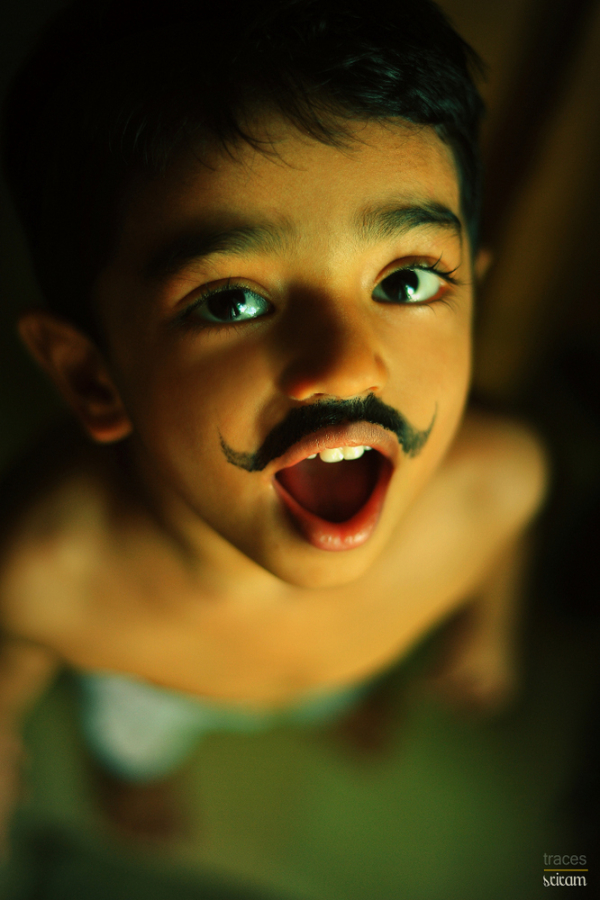Old enough for a false moustache