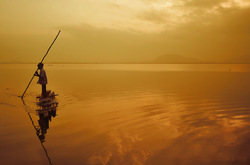 Morning at the golden waters