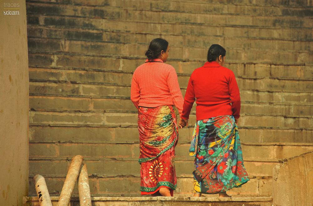 Seeking help to climb the steep steps