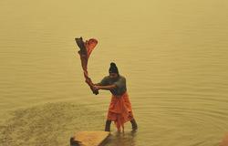 Washing away at Ganges