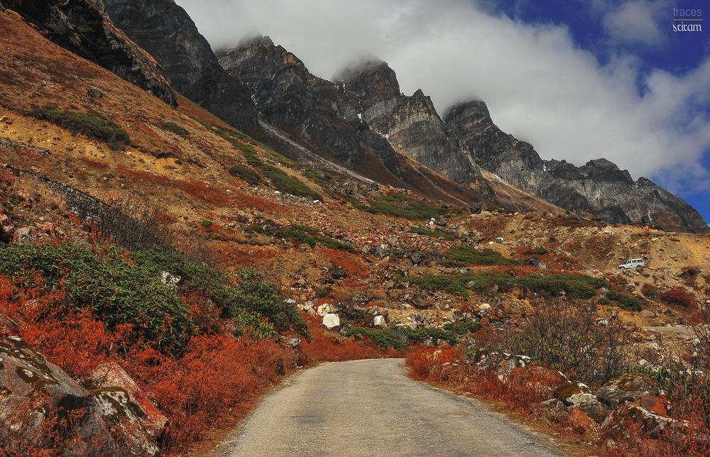 Barren hues of Yumthang