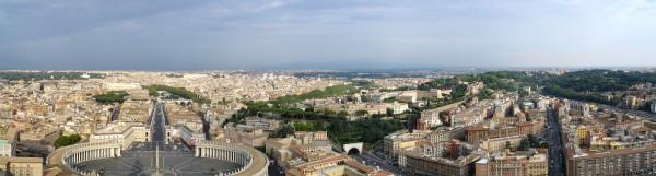 Panorámica desde la basílica de San Pedro, Roma