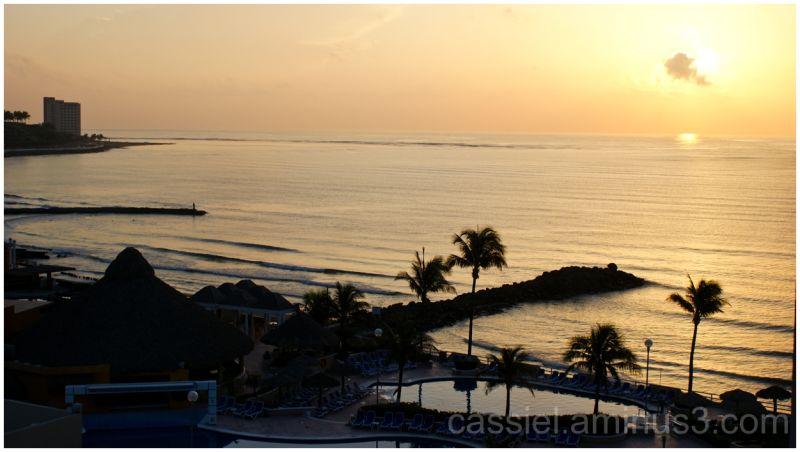 amanece en la costa