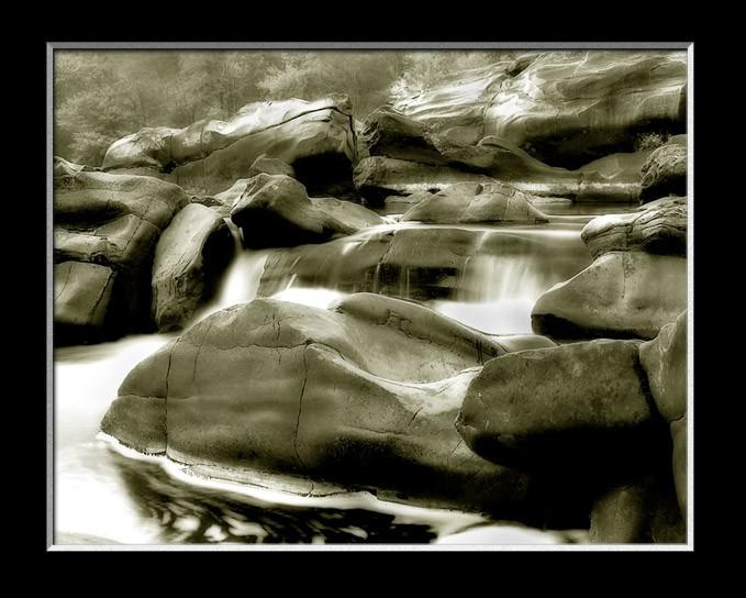 Cossatot Falls Black and White