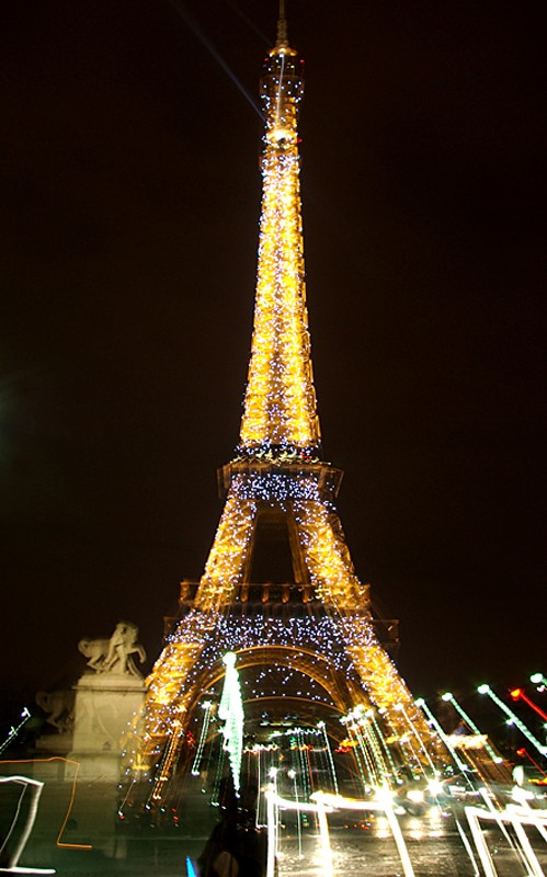 Effets de lumière sur la Tour Eiffel