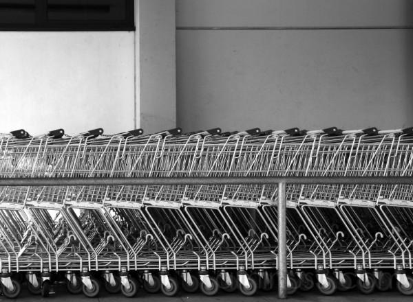 einkaufswagen, shopping carts