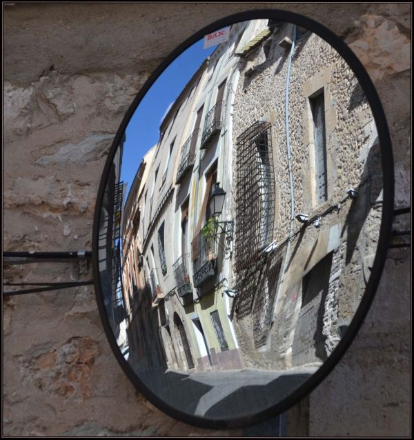 Town Houses Through The Convex Mirror
