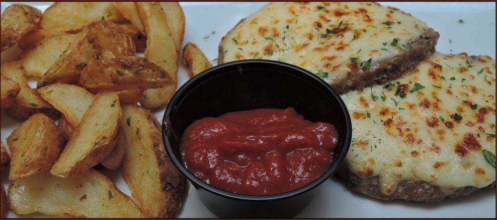 Italian  Hamburg Steak with Tomato Basil Sauce