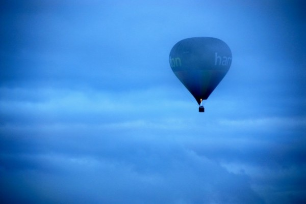 a hot air balloon