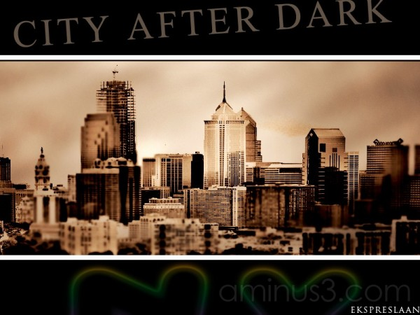 City after dark
