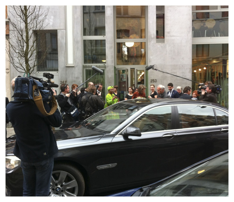 PRINCESS MATHILDE LEAVING THE BUILDING