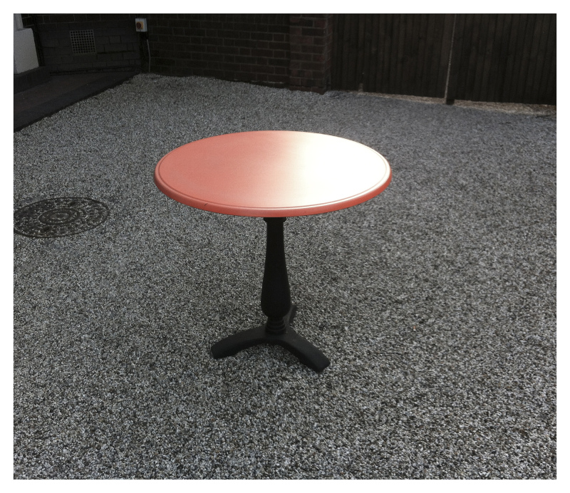 SALMON PINK TABLE