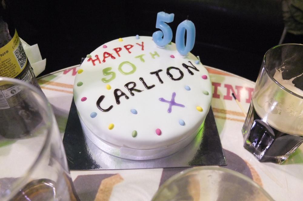 HAPPY 50TH CARLTON X