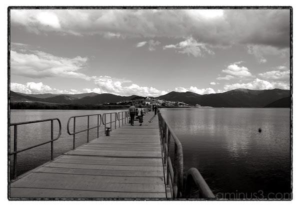 lake bridge sky