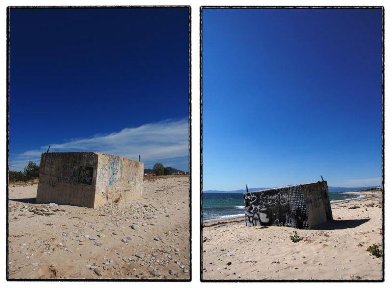 sand beach sky structure