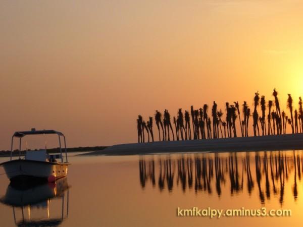 Boat & Sun set
