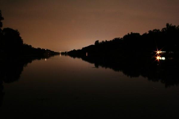 Toronto Islands at night