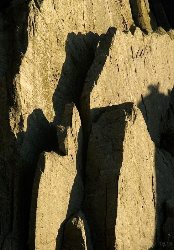 vertical rock slabs