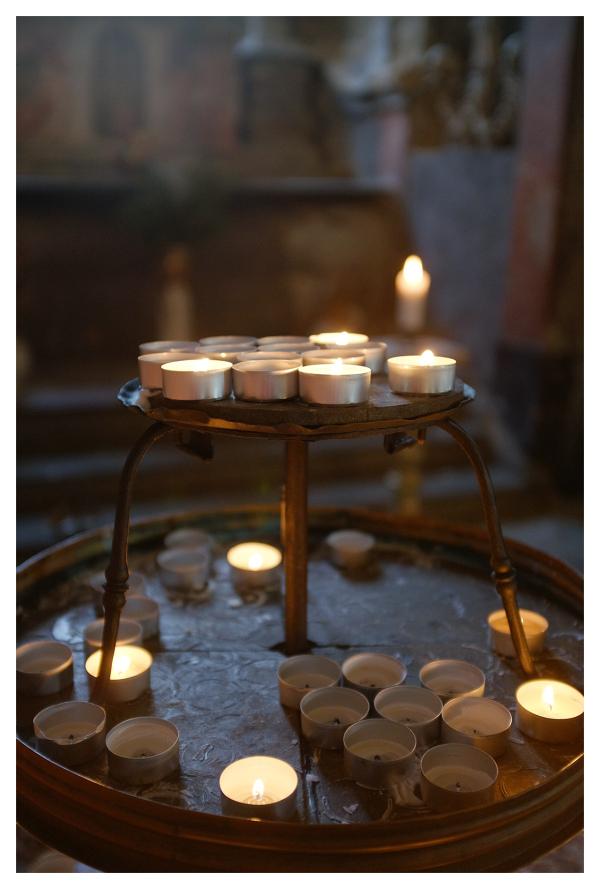 candles lit church remembrance sedlec czech