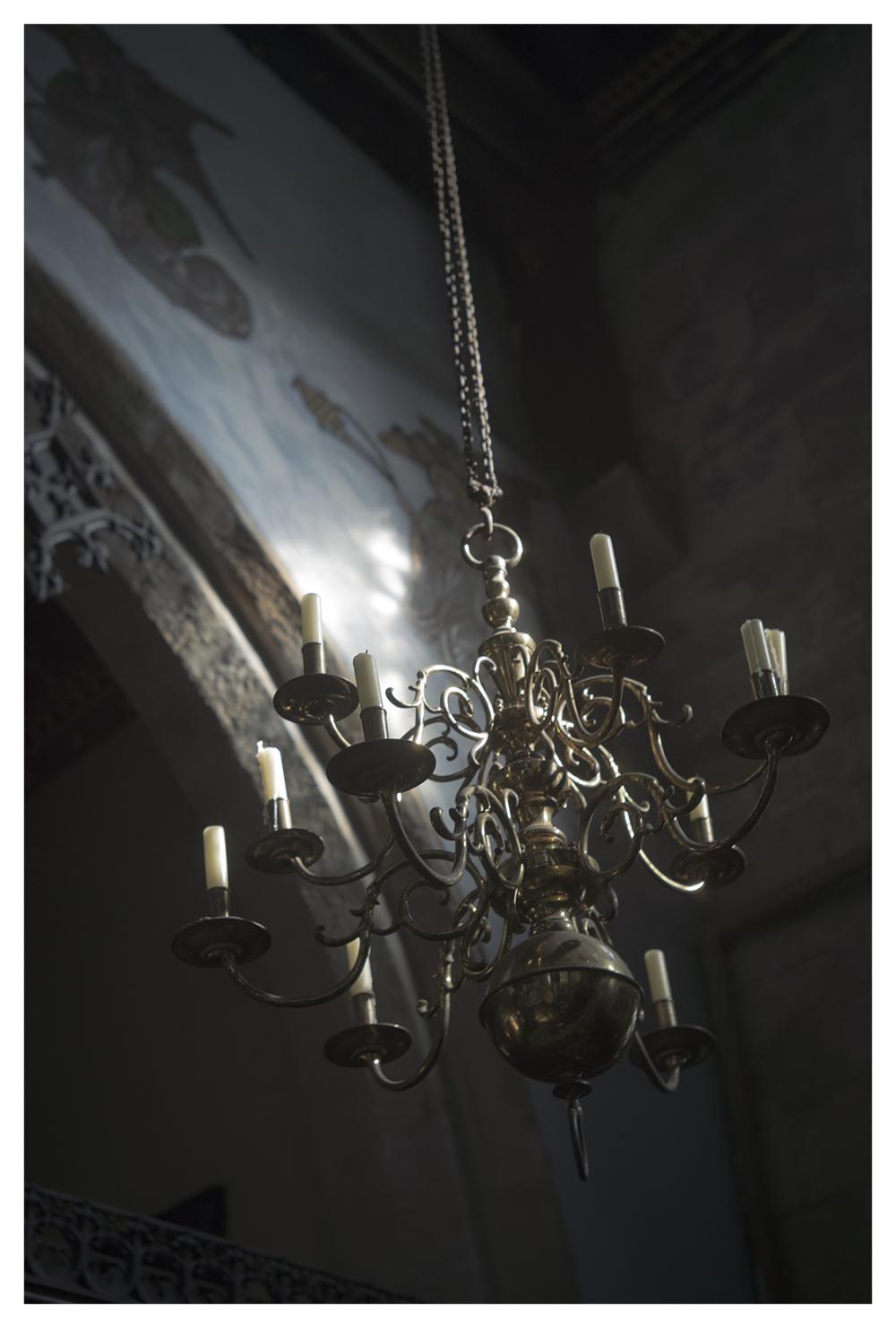candelabra elvaston castle church