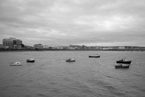 small fishing boats weston-super-mare seaside