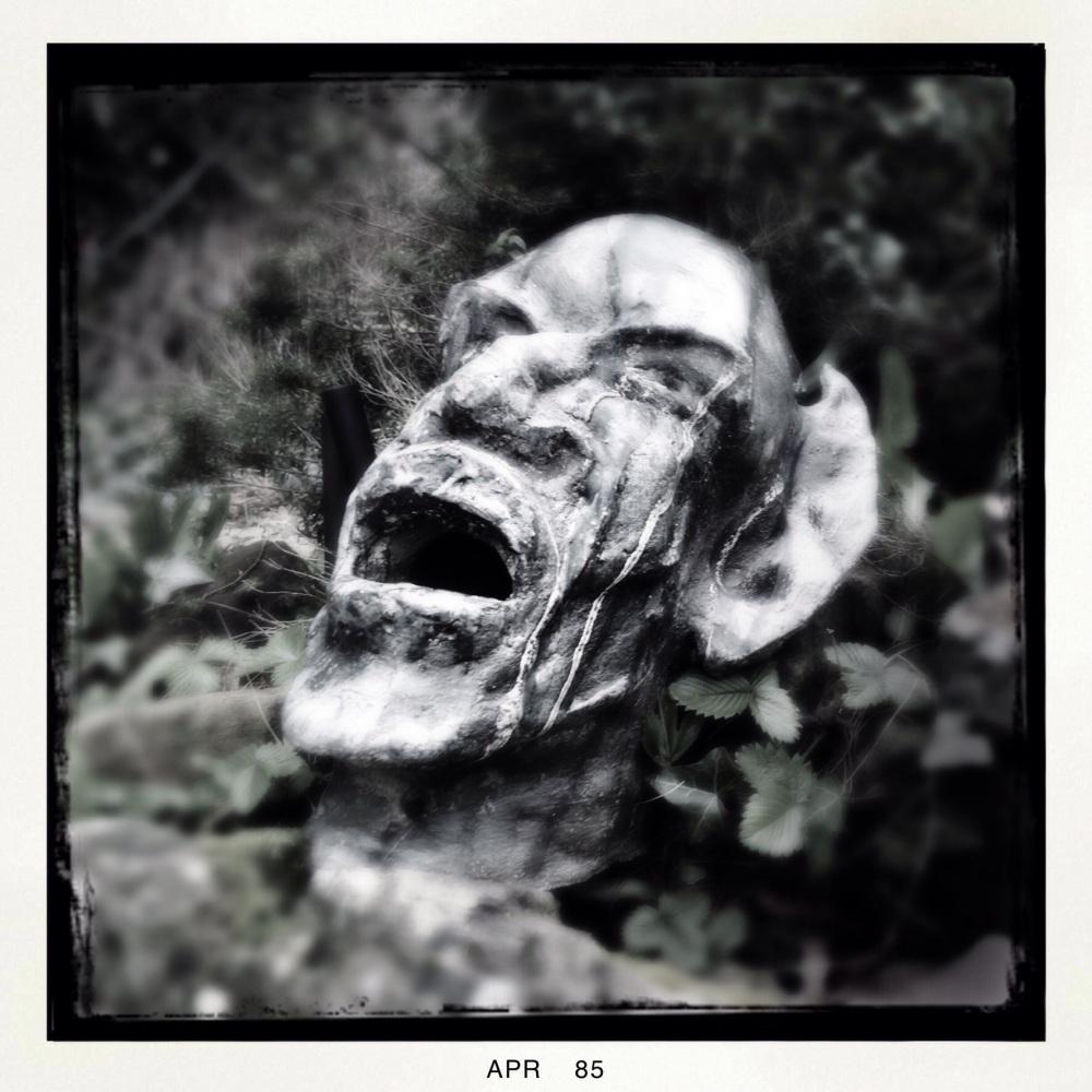 Garden heads sculpture belper
