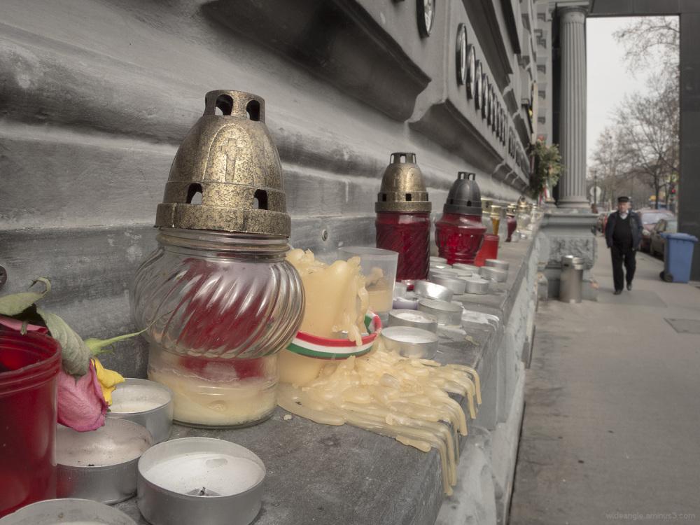 memorial candles terror museum fallen victims